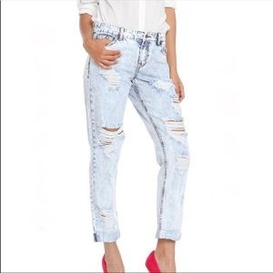 Buffalo Henya Rigid distressed boyfriend jeans